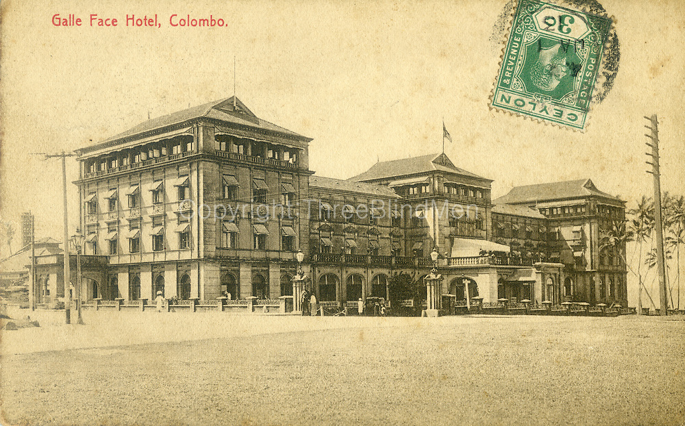 Old Ceylon postcard. The Galle Face Hotel Colombo