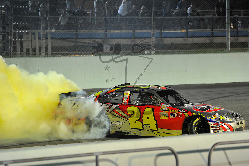 Homestead, FL - Nov 18, 2012: Jeff Gordon (24) wins the Ford ECOBOOST 400 at the Homestead-Miami Speedway in Homestead, FL.