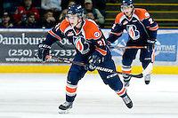 KELOWNA, CANADA, JANUARY 25: Cole Ully #21 of the Kamloops Blazers skates on the ice as the Kamloops Blazers visit the Kelowna Rockets on January 25, 2012 at Prospera Place in Kelowna, British Columbia, Canada (Photo by Marissa Baecker/Getty Images) *** Local Caption ***