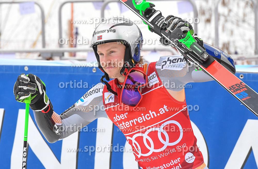 26.10.2019, Hannes Trinkl Weltcupstrecke, Hinterstoder, AUT, FIS Weltcup Ski Alpin, Riesenslalom, Herren, 2. Lauf, im Bild Henrik Kristoffersen (NOR) Sieger // Henrik Kristoffersen of Norway Winner reacts after his 2nd run of men's Giant Slalom of FIS ski alpine world cup at the Hannes Trinkl Weltcupstrecke in Hinterstoder, Austria on 2019/10/26. EXPA Pictures © 2020, PhotoCredit: EXPA/ Erich Spiess