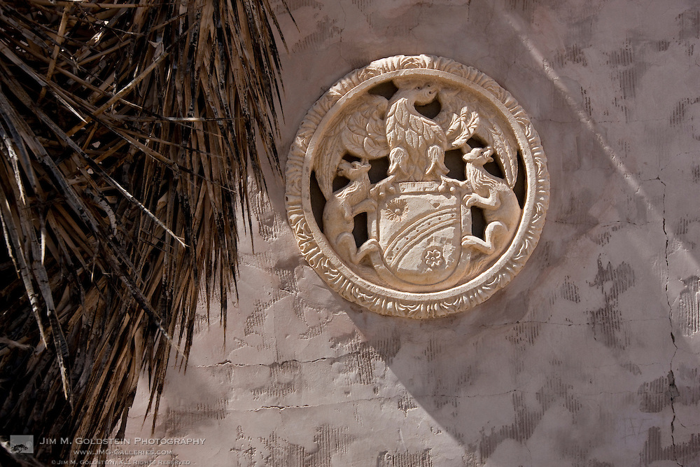 Scotty's Castle wall emblem - Death Valley National Park, California