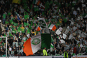 The Celtic support during the League Cup final between Rangers and Celtic at Hampden Park -<br /> David Young