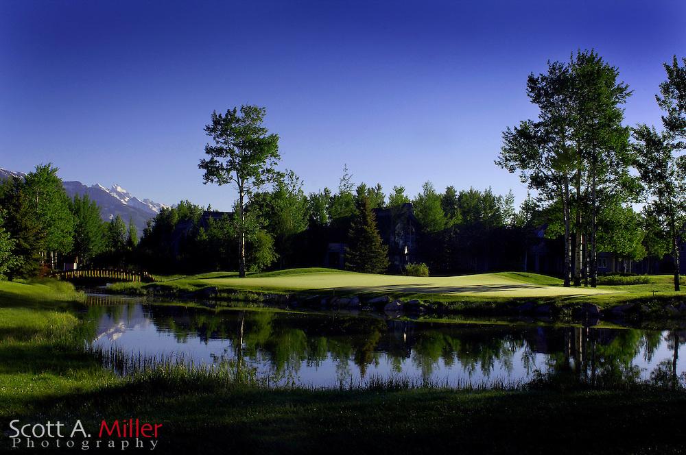 Jackson, Wyo.; June 6, 2006 - No. 15 at Teton Pines Golf Course in Jackson, Wyo.....© 2006 Scott A. Miller..© 2006 Scott A. Miller
