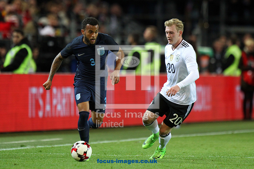 Ryan Bertrand of England and Julian Brandt of Germany in action during the International Friendly match at Signal Iduna Park, Dortmund<br /> Picture by Paul Chesterton/Focus Images Ltd +44 7904 640267<br /> 22/03/2017