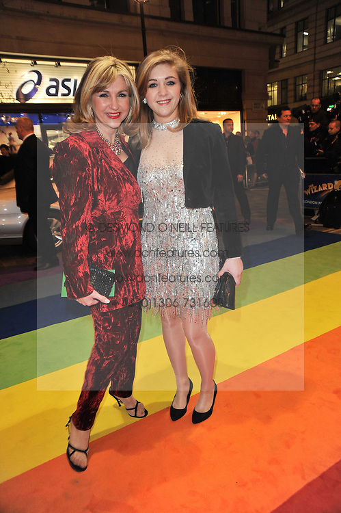 Left to right, LESLEY GARRETT and her daughter CHLOE arrive at the press night of the new Andrew Lloyd Webber  musical 'The Wizard of Oz' at The London Palladium, Argylle Street, London on 1st March 2011 followed by an aftershow party at One Marylebone, London NW1