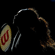 Serena Williams, USA, during warm up before her match against Victoria Azarenka, Belarus, during the Women's Singles Final at the US Open, Flushing. New York, USA. 8th September 2013. Photo Tim Clayton