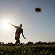 Frisbee on the campus of UC Santa Barbara.