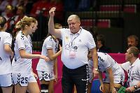 Frederikshavn, Danmark:<br /> IHF VM  H&aring;ndbold for kvinder Danmark 2015 Norge- Rusland,Jevgenij Trefilov<br /> Fotograf: Morten Olsen<br /> <br /> Frederikshavn, Denmark:<br /> Norway - Russia<br /> IHF Women&acute;s Handball World Championship Denmark 2015,Jevgenij Trefilov<br /> <br /> Photographer: Morten Olsen