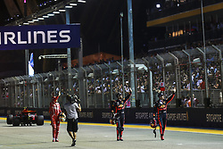 September 16, 2017 - Singapore, Singapore - Motorsports: FIA Formula One World Championship 2017, Grand Prix of Singapore, ..#5 Sebastian Vettel (GER, Scuderia Ferrari), #3 Daniel Ricciardo (AUS, Red Bull Racing), #33 Max Verstappen (NLD, Red Bull Racing) (Credit Image: © Hoch Zwei via ZUMA Wire)
