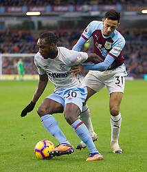 Michail Antonio of West Ham United (L) and Dwight McNeil of Burnley in action - Mandatory by-line: Jack Phillips/JMP - 30/12/2018 - FOOTBALL - Turf Moor - Burnley, England - Burnley v West Ham United - {event}