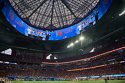 Halo signage during  the 2019 College Football Playoff Semifinal at the Chick-fil-A Peach Bowl on Saturday, Dec. 28, in Atlanta. (Harrison McClary via Abell Images for the Chick-fil-A Peach Bowl)