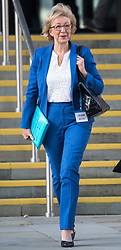 © Licensed to London News Pictures. 03/10/2017. Manchester, UK. ANDREA LEADSOM seen on day three of the Conservative Party Conference. The four day event is expected to focus heavily on Brexit, with the British prime minister hoping to dampen rumours of a leadership challenge. Photo credit: Ben Cawthra/LNP