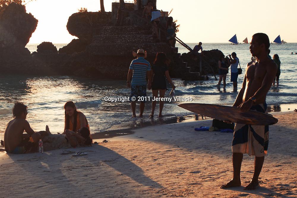 Body Boarding in Boracay.