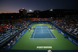Center court at night at 2nd Round of Banka Koper Slovenia Open 2008, on July 22, 2008, Portoroz - Portorose, Slovenia. (Photo by Vid Ponikvar / Sportal Images)...