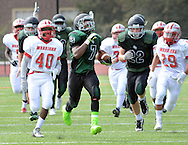 George School's Shadier Coles (7) runs back  kickoff for a touchdown against Bristol Saturday, September 17, 2016 in Newtown, Pennsylvania.  (Photo by William Thomas Cain)