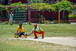 June 30, 2019 - Srinagar, J&K, India - A Kashmiri visually impaired cricket player in action during a match in Srinagar..The first ever blind cricket tournament was organized by J&K Handicapped Association and Disable People's Trust for the visually-impaired players here in Srinagar. The motive behind this tournament is to encourage players to take part in sports events and boost their morals so that they can also make a career in sports. (Credit Image: © Saqib Majeed/SOPA Images via ZUMA Wire)