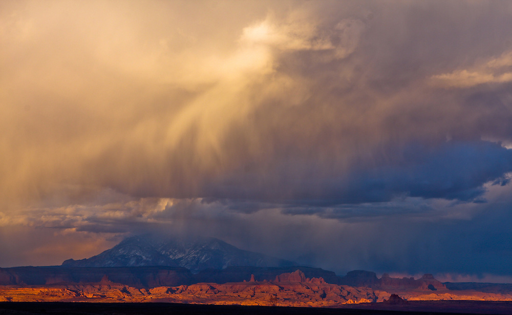 Thunderstorm over Navajo Mountain, Utah on the Coloradeau Plateau