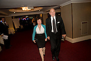 Imelda Staunton; Patrick Stewart;, The Laurence Olivier Awards, The Grosvenor House Hotel. Park Lane. London. 8 March 2009 *** Local Caption *** -DO NOT ARCHIVE -Copyright Photograph by Dafydd Jones. 248 Clapham Rd. London SW9 0PZ. Tel 0207 820 0771. www.dafjones.com<br /> Imelda Staunton; Patrick Stewart;, The Laurence Olivier Awards, The Grosvenor House Hotel. Park Lane. London. 8 March 2009