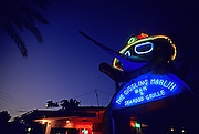 Image of The Giggling Marlin at dusk in Cabo San Lucas, Baja California Sur, Mexico