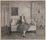 THE LOVE SEAT, ink drawing, 1978