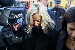 © Licensed to London News Pictures. 23/12/2019. London, UK. Radio presenter and Love Island host CAROLINE FLACK arrives at Highbury Corner Magistrates' Court, north London. She has been charged for actual bodily harm, following an alleged row with boyfriend LEWIS BURTON at her north London home on Thursday 12 December. Photo credit: Dinendra Haria/LNP