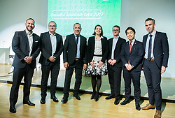 Gregor Kosi, Boro Strumbelj, Damijan Lazar, , Luka Pusnik, Kensuke Tsuchiya and ... during Slovenian Disabled Sports personality of the year 2017 event, on December 6, 2017 in Austria Trend Hotel, Ljubljana, Slovenia. Photo by Vid Ponikvar / Sportida