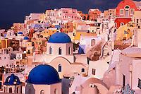 Oia, island of Santorini, the Cyclades, Greece