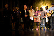 RICHARD WILSON, SOPHIE OKONEDO AND MIRANDA RICHARDSON,  'Cries from the Heart' presented by Human Rights Watch at the Theatre Royal Haymarket. London. Party afterwards at the Haymarket Hotel. June 8, 2008 *** Local Caption *** -DO NOT ARCHIVE-© Copyright Photograph by Dafydd Jones. 248 Clapham Rd. London SW9 0PZ. Tel 0207 820 0771. www.dafjones.com.
