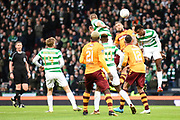 Goal mouth action during the Betfred Scottish Cup final between Motherwell and Celtic at Hampden Park, Glasgow, United Kingdom on 26 November 2017. Photo by Kevin Murray.