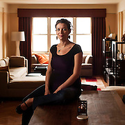 November 19, 2012 - New York, NY : Portrait of author and Pulitzer Prize-winning (for drama) playwright Quiara Alegria Hudes, taken on Monday, November 19 in the dining/living area of her Washington Heights apartment. CREDIT: Karsten Moran for The New York Times