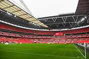 Wembley Stadium ahead of the EFL Trophy Final match between Lincoln City and Shrewsbury Town at Wembley Stadium, London, England on 8 April 2018. Picture by Stephen Wright.