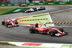 Renntag beim GP von Italien 2016 in Monza<br /> <br /> / 040916<br /> <br /> ***Sebastian Vettel (GER) Ferrari SF16-H.<br /> 04.09.2016. Formula 1 World Championship, Rd 14, Italian Grand Prix, Monza, Italy, Race Day.<br />  ***