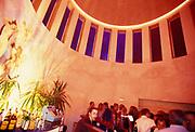 The bar at a night club in Ibiza, 1990s.