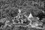 Sri Lanka.<br /> Aerial view of the Lankatilaka Vihara (temple) which can be approached from Kandy. <br /> This is a Bhudist temple.<br /> Copyright: Dominic Sansoni