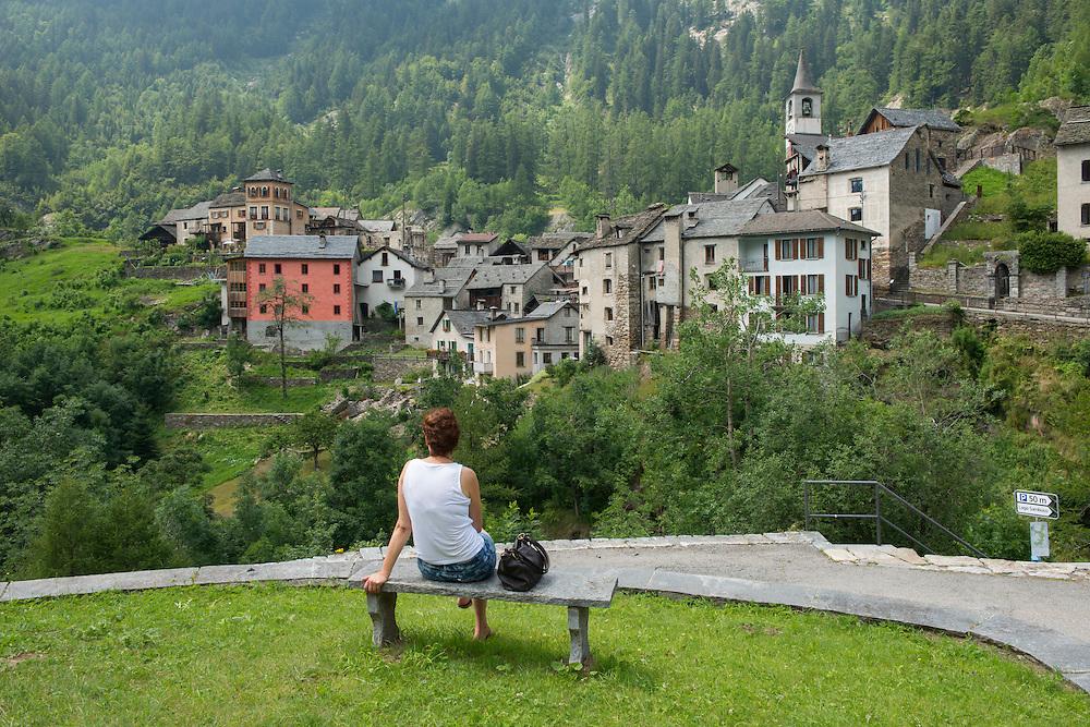 Europe; Switzerland; Ticino; Maggia Valley,Fusio