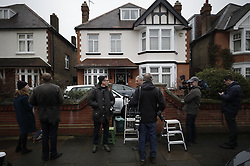 © Licensed to London News Pictures. 21/12/2017. London, UK. Reporters wait outside the house of Damian Green after he resigned as first minister yesterday. Mr Green has been under investigation after pornographic images were found on his Parliamentary computer and allegations of inappropriate advances towards a female activist. London, UK. Photo credit: Peter Macdiarmid/LNP