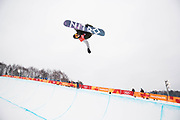 PYEONGCHANG-GUN, SOUTH KOREA - FEBRUARY 14: Jan Scherrer of Switzerland during the Mens Snowboard Halfpipe competition at Phoenix Snow Park on February 14, 2018 in Pyeongchang-gun, South Korea. Photo by Nils Petter Nilsson/Ombrello               ***BETALBILD***