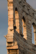 Remains of out wall, Roman Arena, Verona, Venetia, Italy