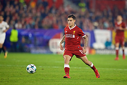 SEVILLE, SPAIN - Tuesday, November 21, 2017: Liverpool's Philippe Coutinho Correia during the UEFA Champions League Group E match between Sevilla FC and Liverpool FC at the Estadio Ramón Sánchez Pizjuán. (Pic by David Rawcliffe/Propaganda)