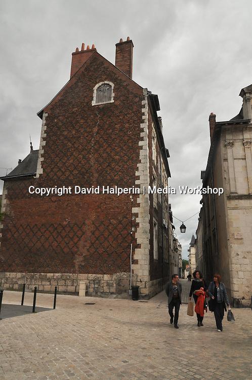 Fance brick building, Orléans