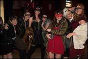 CAROLYN EVANS  ( FAR RIGHT ) BIRTHDAY PARTY, The Dark Side of Love, Valentine's Masked Ball. the Coronet Theatre, Elephant and Castle. London. 13 February 2015.