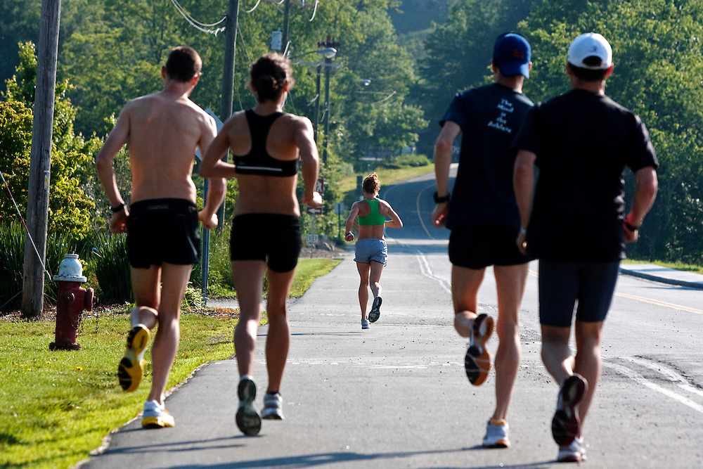 Zap Fitness athletes head out for a training session in Boone, NC..