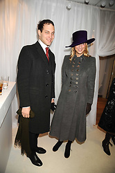 LORD FREDERICK WINDSOR and his sister LADY GABRIELLA WINDSOR at the 2008 Hennessy Gold Cup held at Newbury racecourse, Berkshire on 29th November 2008.<br /> <br /> NON EXCLUSIVE - WORLD RIGHTS