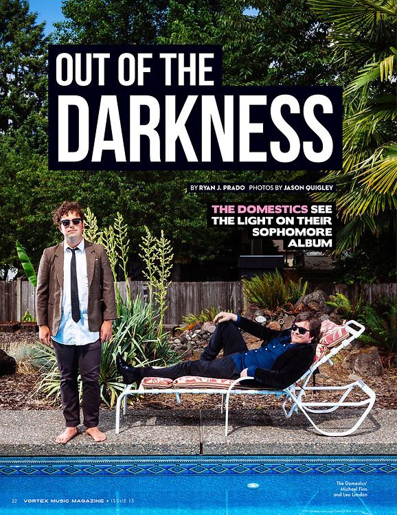 Vortex Music Magazine issue 13, featuring The Domestics