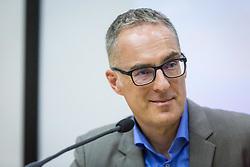 Portrait of Igor E. Bergant  journalist, on March 14, 2018 in Mestni Muzej, Ljubljana, Slovenia. Photo by Ziga Zupan / Sportida