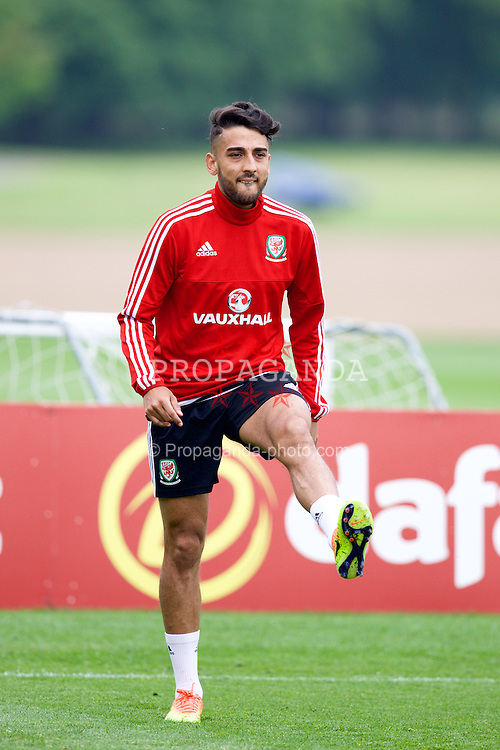 CARDIFF, WALES - Saturday, June 4, 2016: Wales' Neil Taylor during a training session at the Vale Resort Hotel ahead of the International Friendly match against Sweden. (Pic by David Rawcliffe/Propaganda)