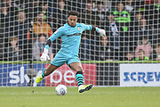 Forest Green Rovers goalkeeper Joe Wollacott(13), on loan from Bristol City during the EFL Sky Bet League 2 match between Forest Green Rovers and Plymouth Argyle at the New Lawn, Forest Green, United Kingdom on 16 November 2019.
