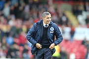 Brighton Manager, Chris Hughton during the Sky Bet Championship match between Brentford and Brighton and Hove Albion at Griffin Park, London, England on 26 December 2015.