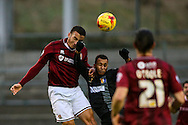 Rod McDonald of Northampton Town (left) competing with Craig Westcarr of Mansfield Town  (centre) during the Sky Bet League 2 match at Sixfields Stadium, Northampton<br /> Picture by Andy Kearns/Focus Images Ltd 0781 864 4264<br /> 14/11/2015