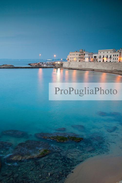 Spiaggia della purità, Gallipoli (LE), all'imbrunire